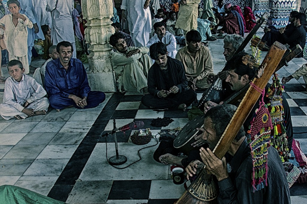 Men playing sitar