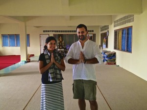 Our final good bye at the ashram