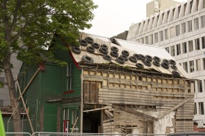 An example of Christchurch's earthquake devastation.