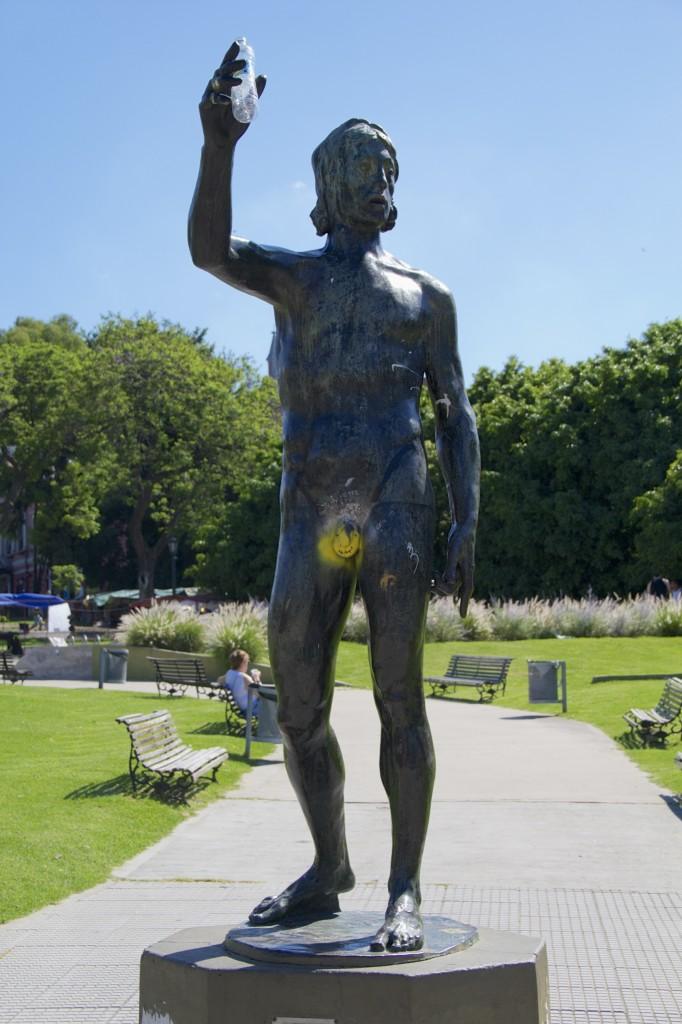 Even statues have graffiti
