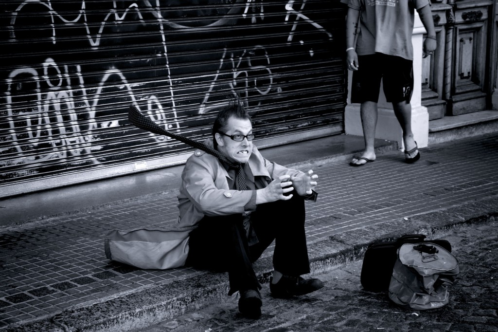 Man on the streets of Buenos Aires