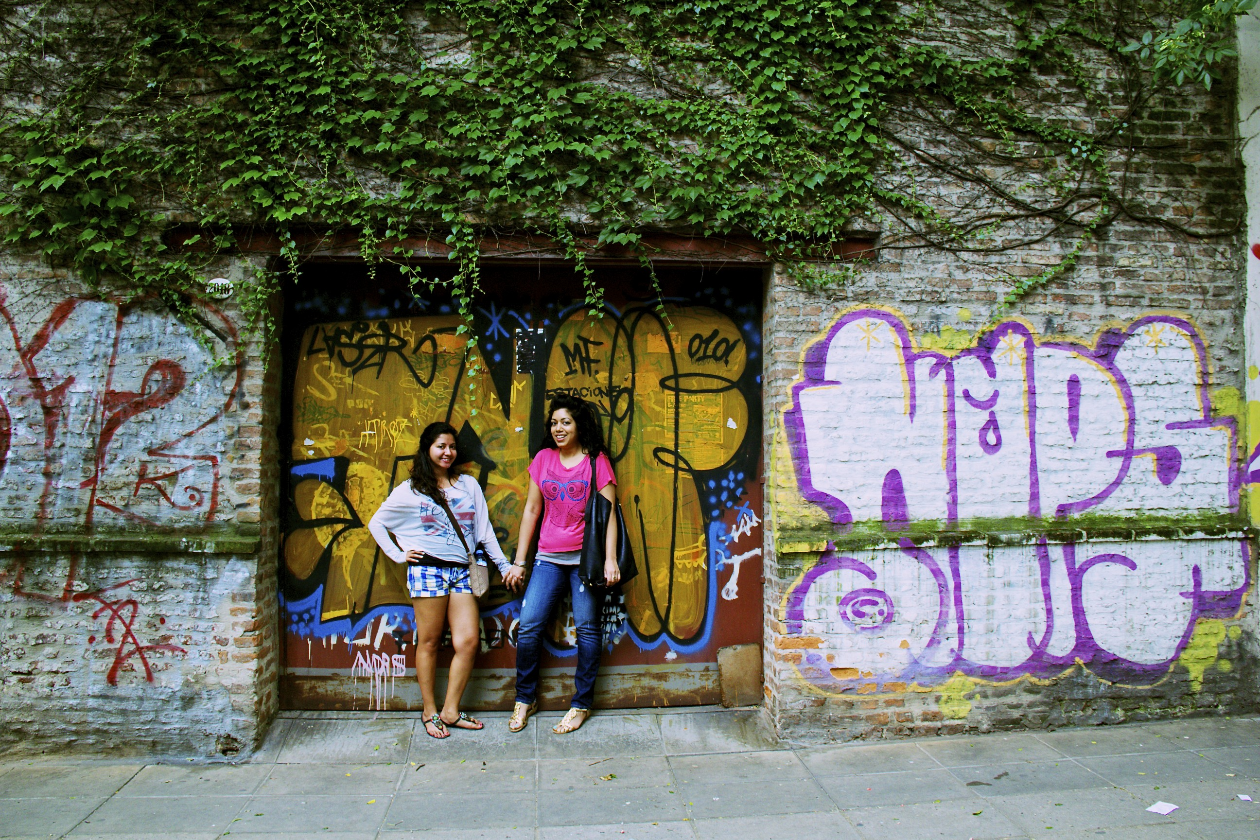 Shelly and I during graffiti tour