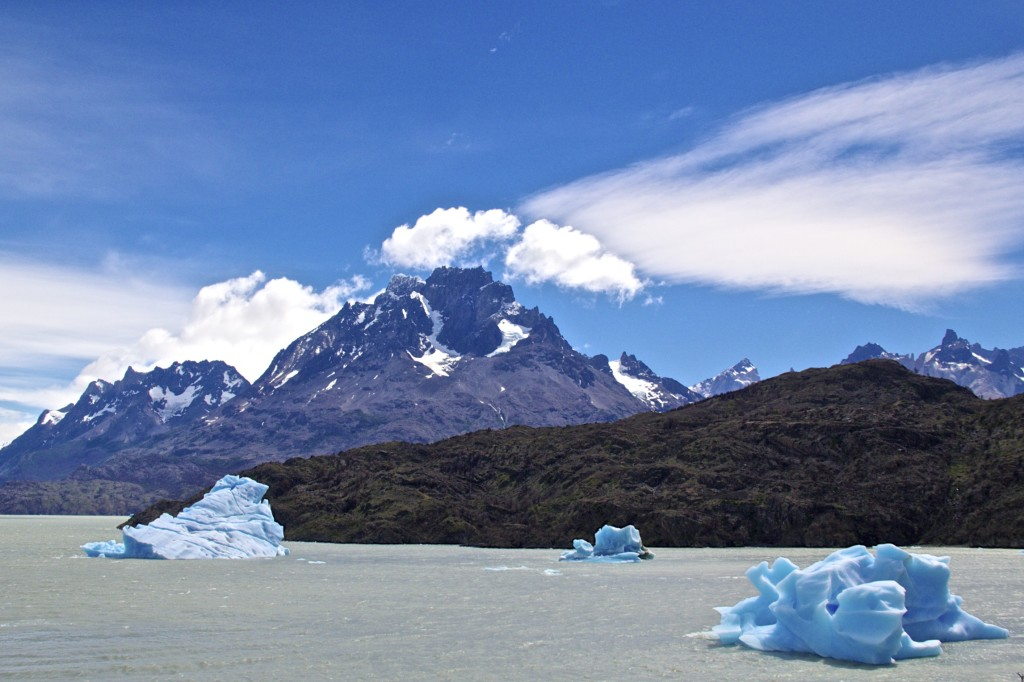 Grey Glacier in Torres Del Paine Park