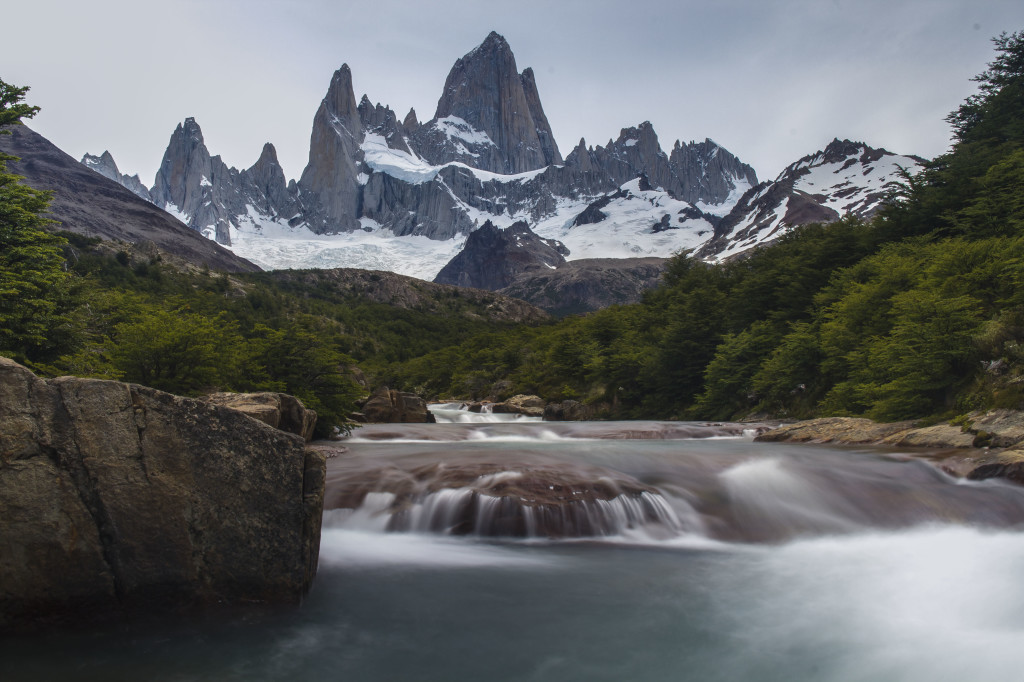 Mt Fitz Roy river in El Chalten