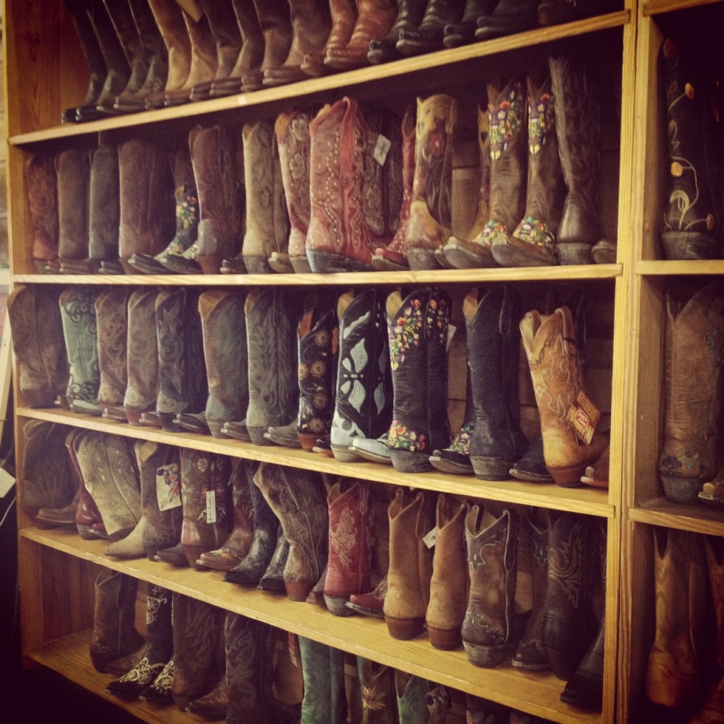 You have to buy boots if you live in Austin. Mandatory.